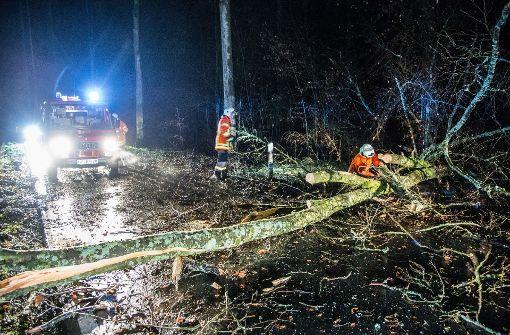 Polizei meldet Schäden durch Orkanböen