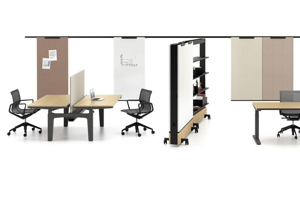 Social Distancing ist auch im Büro notwendig. Zusätzlich schützen Raumtrenner und Abschirmungen.  Foto: Vitra