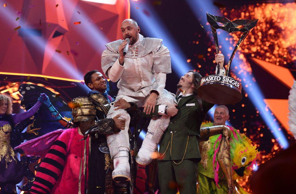"""""""The Masked Singer"""" bei ProSieben avancierte zum Quotenhit dieses TV-Sommers. Foto: dpa"""