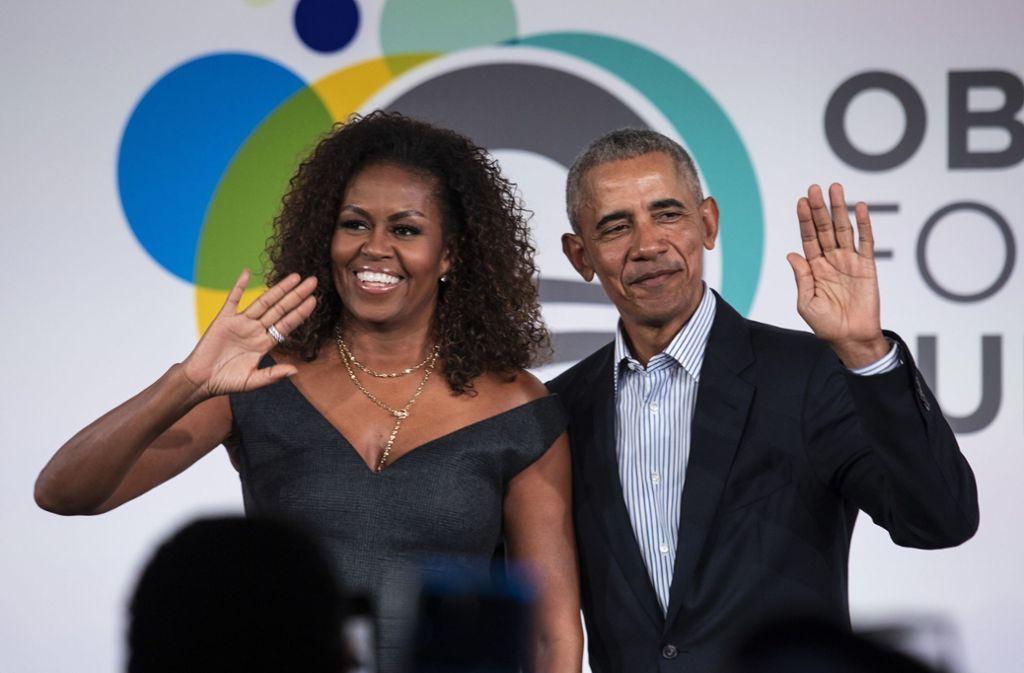 Michelle und Barack Obama wollen mit ihrer Produktionsfirma Higher Ground Filme fördern, die für Solidarität und Verständnis stünden. Foto: dpa/Ashlee Rezin  Garcia