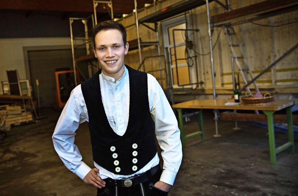Tim Hepperle schafft sich auf 21 Quadratmetern sein eigenes kleines Reich. Foto: Ines Rudel