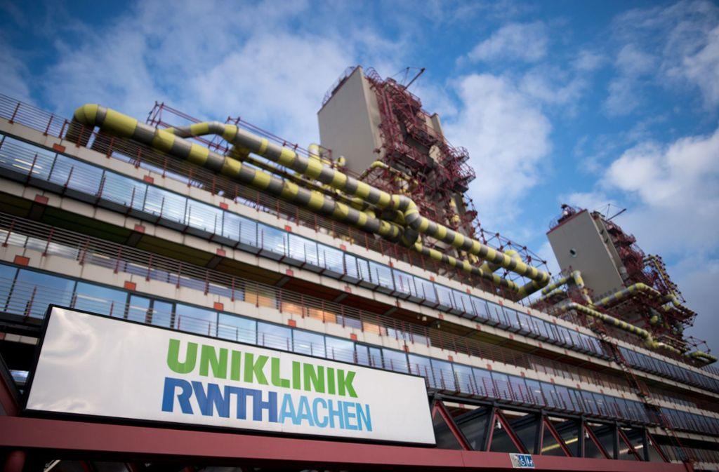 Seit Tagen im Fokus der Medien: das Uniklinikum in Aachen Foto: dpa