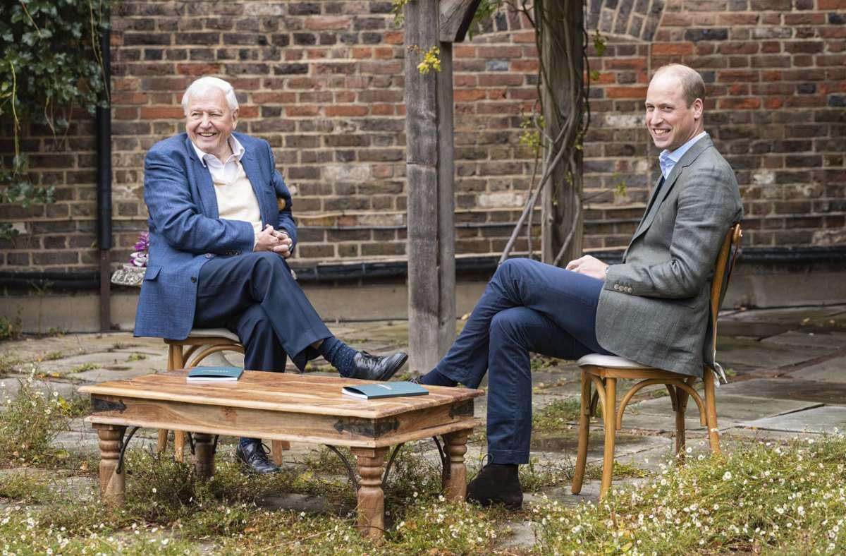 Naturforscher David Attenborough (links) und Prinz William haben gemeinsam einen neuen Umweltpreis ins Leben gerufen. Foto: dpa/--