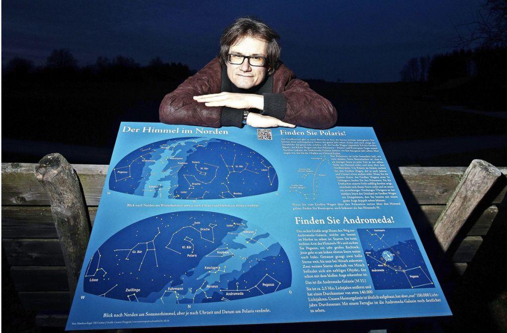 """Matthias Engel  gründete 2011  das Projekt """"Sternenpark Schwäbische Alb"""" und setzt sich für umweltgerechte Beleuchtung ein. Foto: Archiv/Pressefoto Horst Rudel"""
