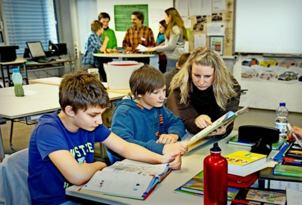 Die Schüler in der Heinrich-Schickardt-Schule in Bad Boll  haben schon Übung mit dem neuen pädagogischen Konzept Foto: Horst Rudel