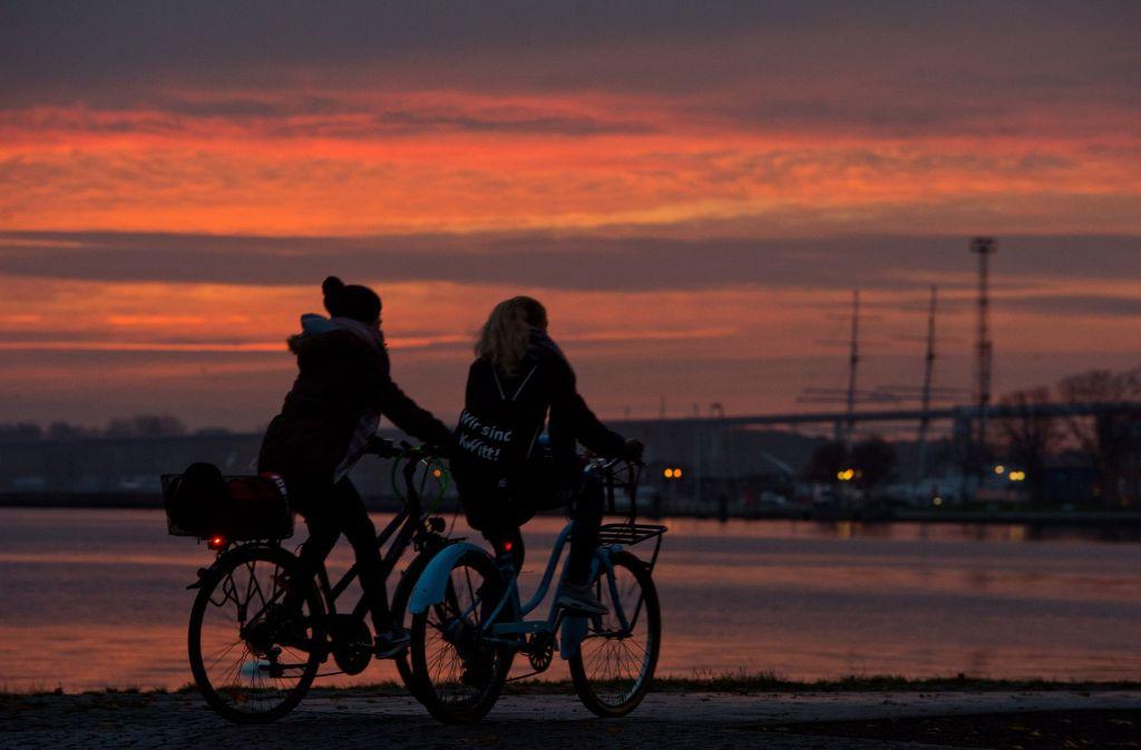 Auch Fahrradfahren verbraucht Energie. Foto: dpa