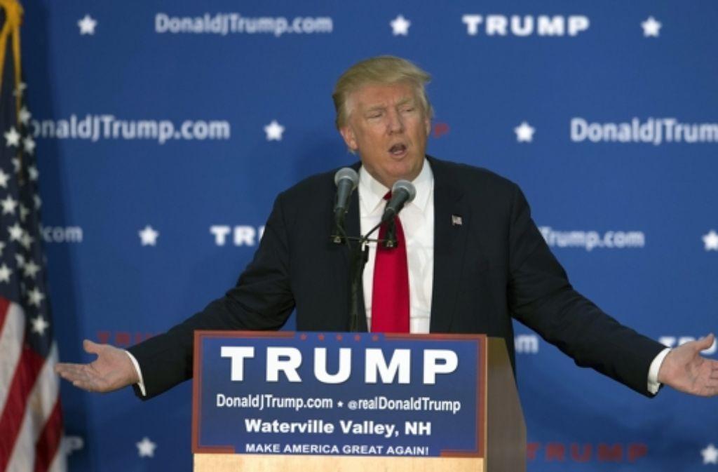 Donald Trump begründete seine radikale Forderung am Montag   mit einer Umfrage. Foto: dpa