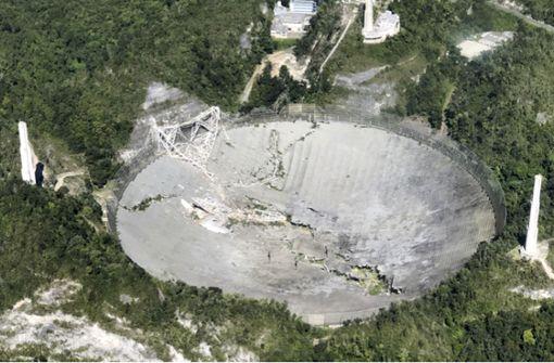 Riesiges Radioteleskop in Puerto Rico stürzt ein