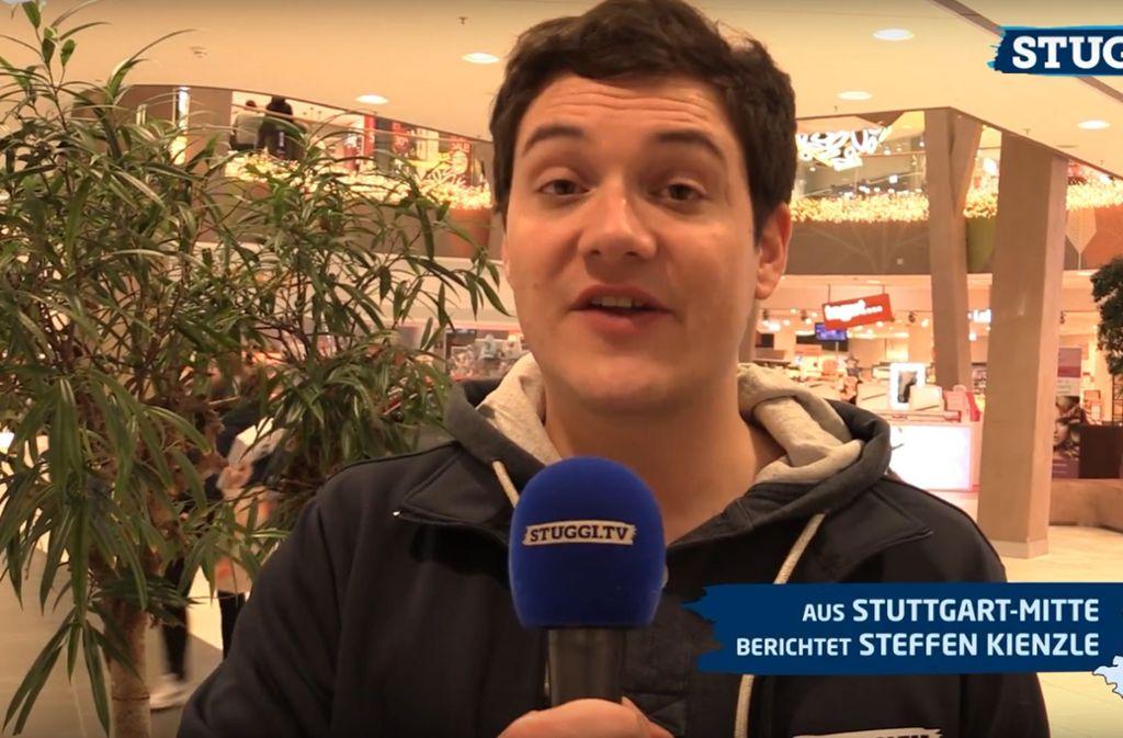 """""""Wie wollt ihr Silvester feiern?"""", fragte Stuggi.TV-Reporter Steffen Kienzle Foto: Stuggi.TV"""