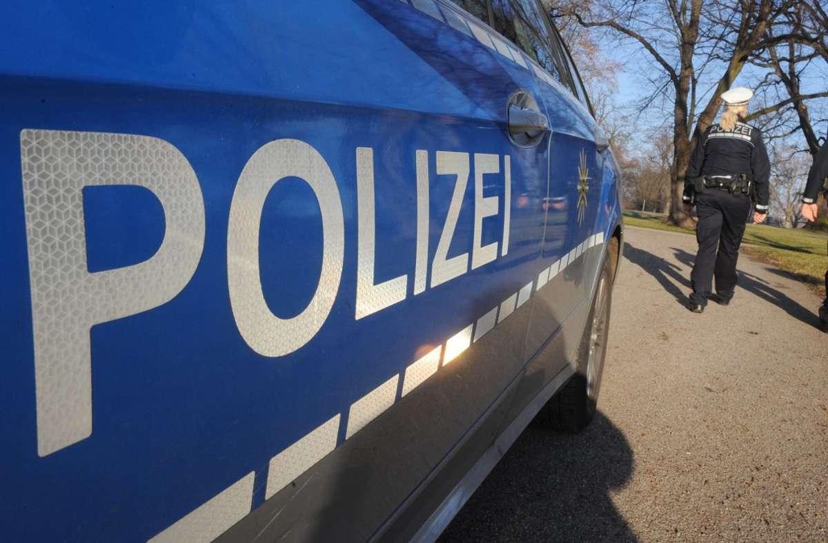 Die Polizei löste die Party auf. (Symbolbild) Foto: dpa/Franziska Kraufmann