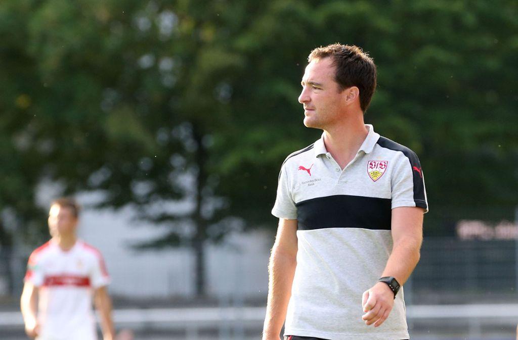 Nico Willig ist B-Jugend-Trainer beim VfB Stuttgart. Foto: Pressefoto Baumann