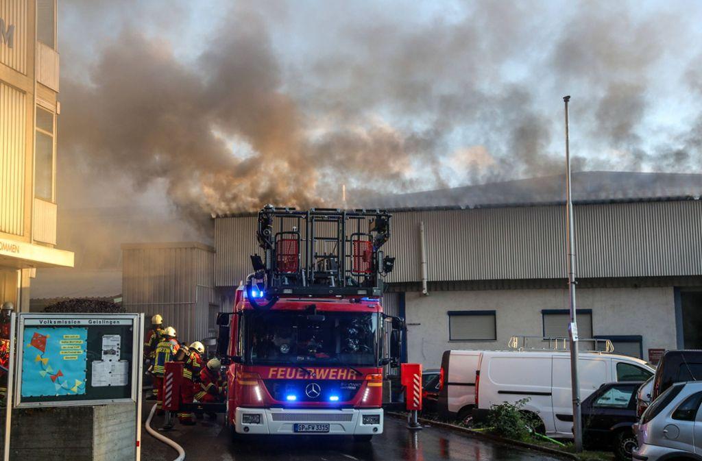 Die Feuerwehr hatte mit dem Brand alle Hände voll zu tun. Foto: 7aktuell.de/Christina Zambito