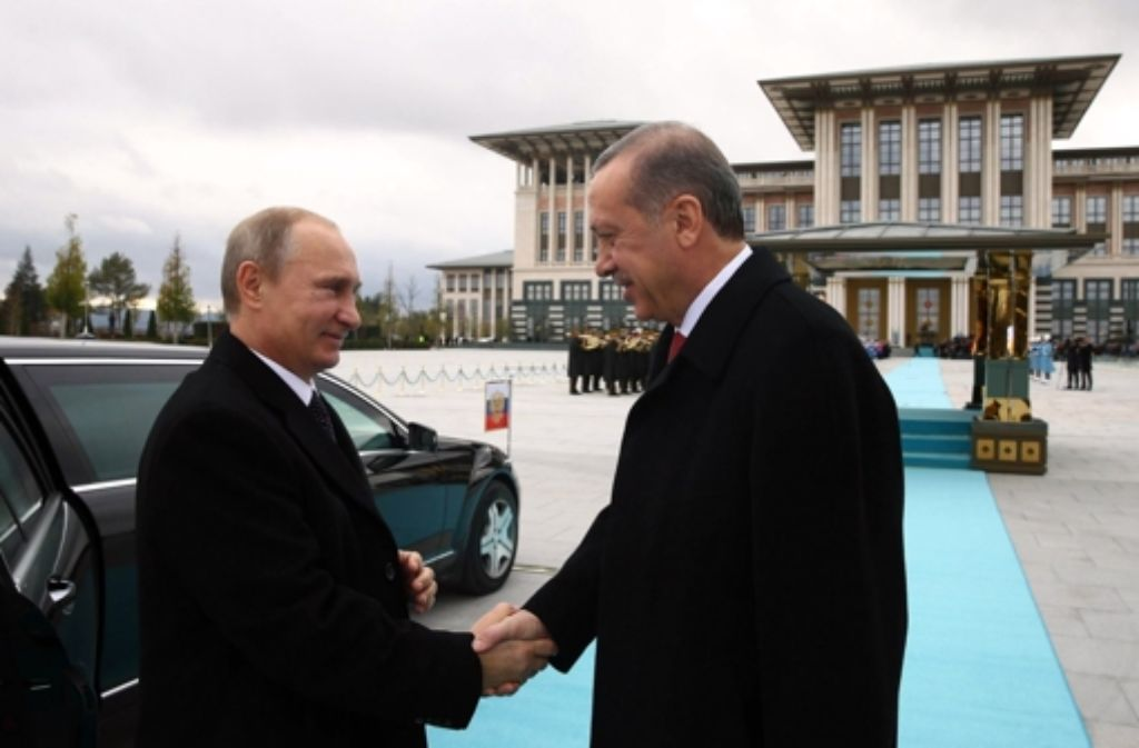 Kremlchef Putin und der türkische Präsident Erdogan. Foto: AFP