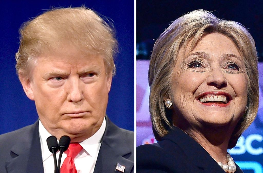 Donald Trump hat keinen republikanischen Gegenkandidaten mehr, Hillary Clintons Weg zur Präsidentschaftskandidatur der Demokraten bleibt steinig. Foto: AFP