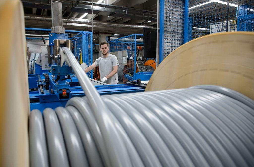 Für den Kabelhersteller Lapp gibt es einen nie dagewesenen Umsatz zu verzeichnen. Foto: dpa