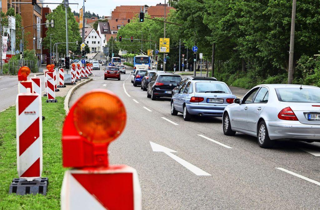 In Vorbereitung: die nächste Baustelle auf der Herrenberger Straße in Böblingen Foto: factum/