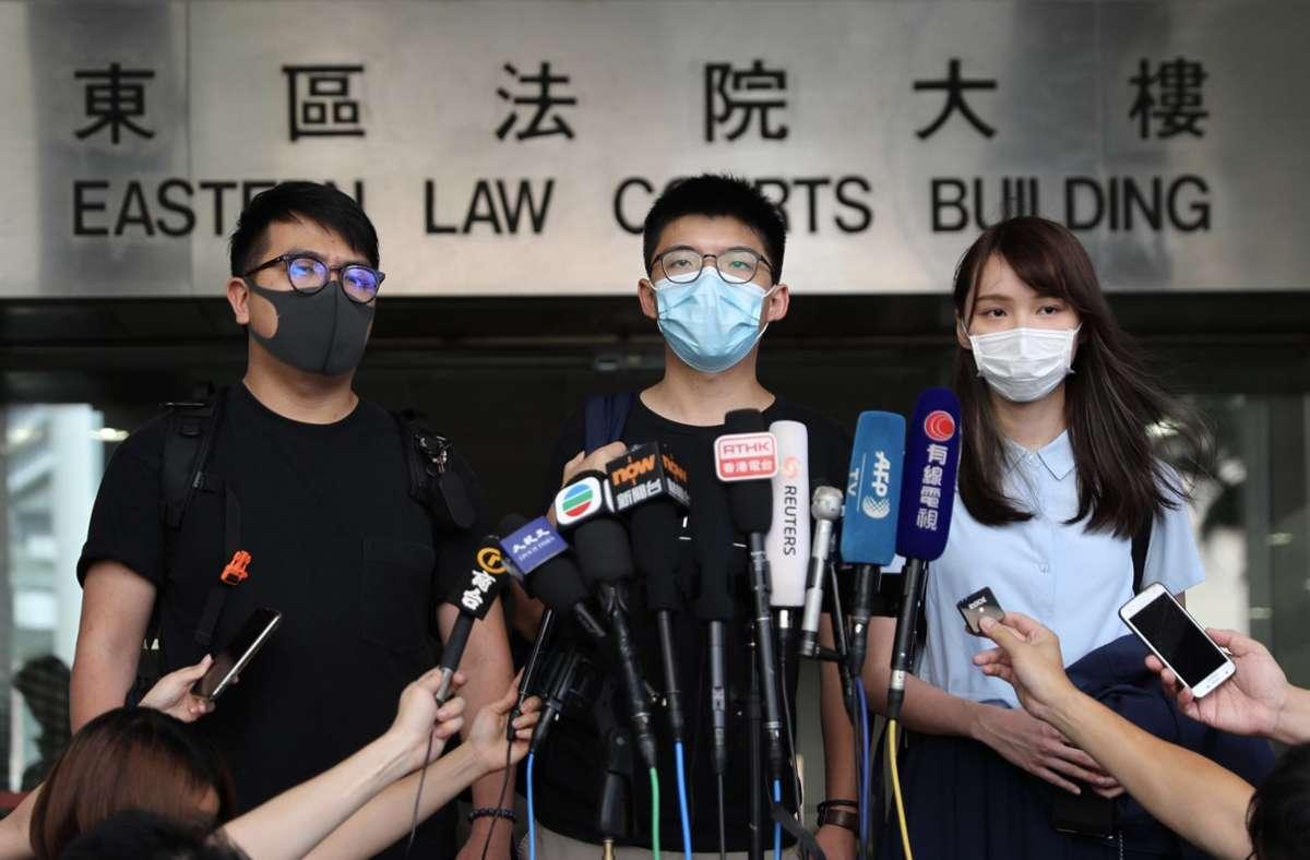 Hongkonger Aktivisten im Juli Foto: dpa/May James