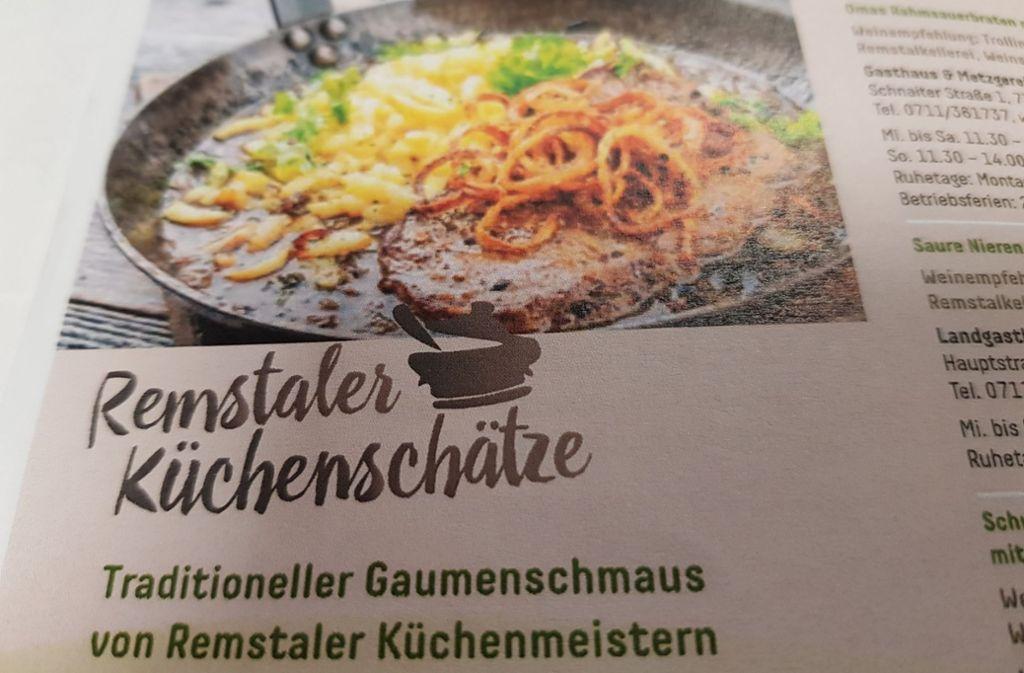 In 17 Restaurants im Remstal sind die Gerichte nach Omas Rezepten im Angebot. Foto: