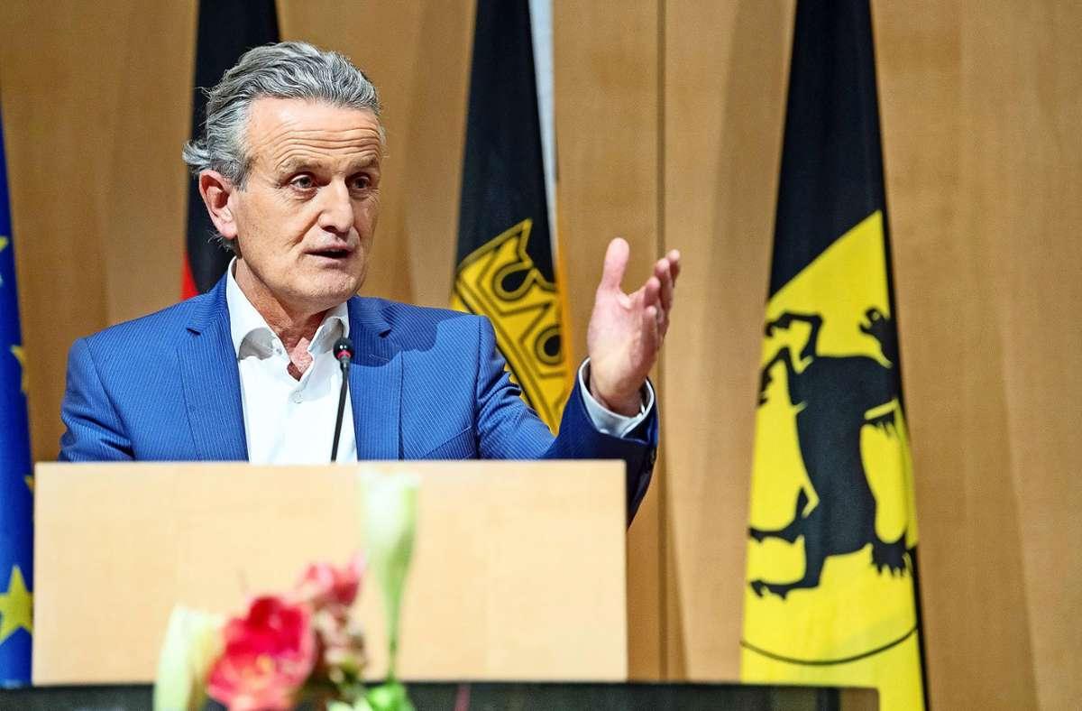 Die Antrittsrede des neuen Stuttgarter Rathauschefs Frank Nopper (CDU) wird mit Spannung erwartet. Foto: dpa/Sebastian Gollnow
