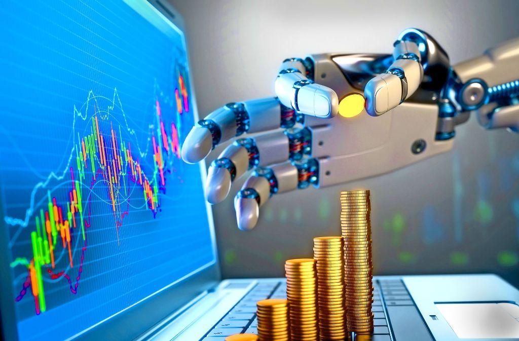 Finanzroboter übernehmen die Geldanlage und versprechen eine höhere Rendite als die etablierten Vermögensverwalter. Foto: Mauritius