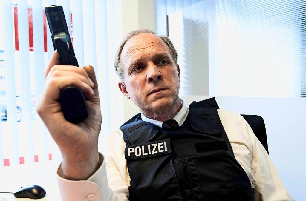 Wie kommt Murot (Ulrich Tukur)  aus dieser Nummer wieder raus? Foto: HR/Bettina Müller