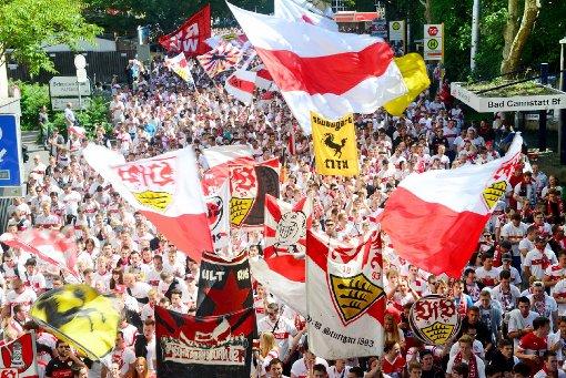 Zum ersten VfB-Heimspiel wird Cannstatt weiß-rot