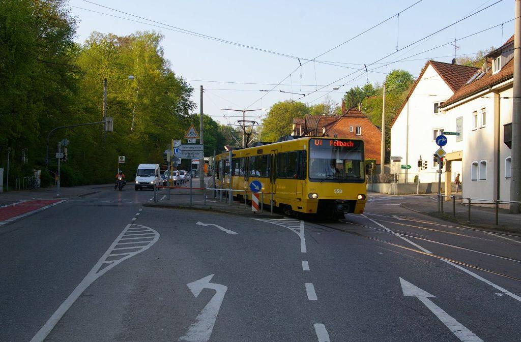Die Kreuzung am Waldeck ist ein Hinderungsgrund für eine Verlängerung der Buslinie 82. Die SSB nennt aber noch weitere und verweist insbesondere auf die Kosten. Foto: Archiv Alexandra Kratz