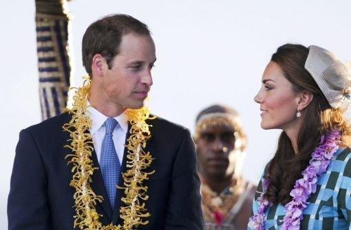 Kate und William in der Südsee