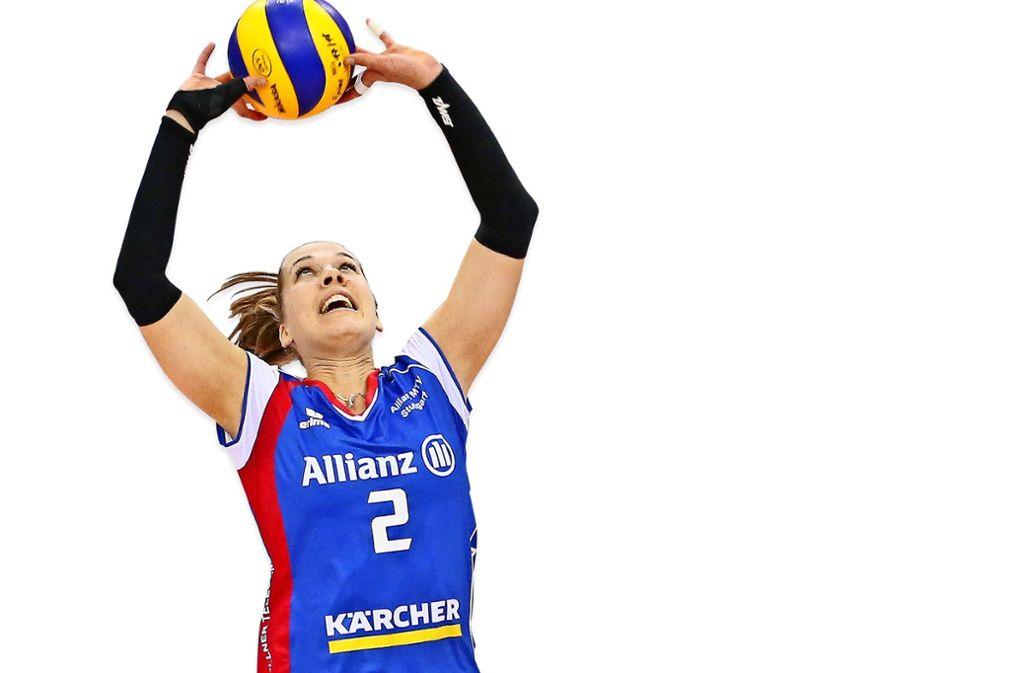Wollen den Titel: Femke Stoltenborg (li.), Molly McCage von Allianz MTV Stuttgart. Foto: Baumann