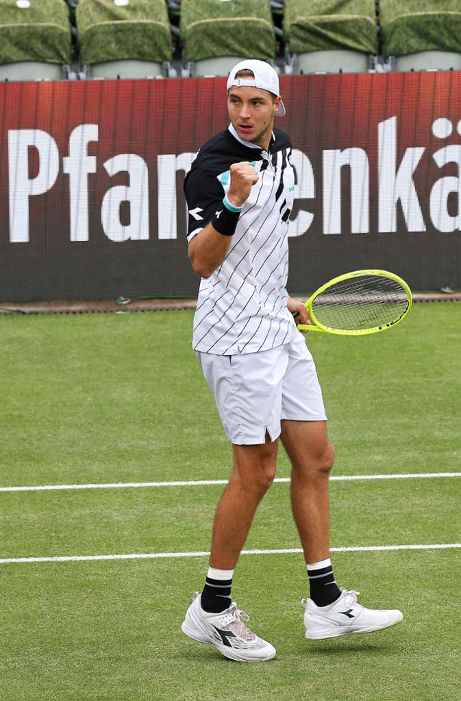 Jan-Lennard Struff steht in der zweiten Runde. Foto: Baumann