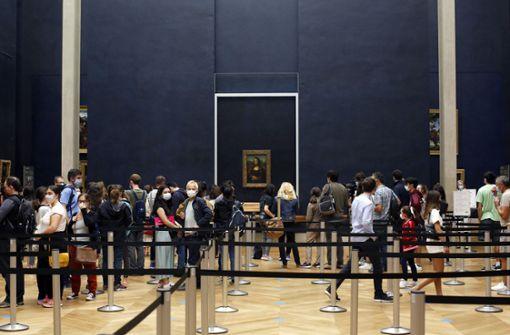Fast alleine mit der Mona Lisa