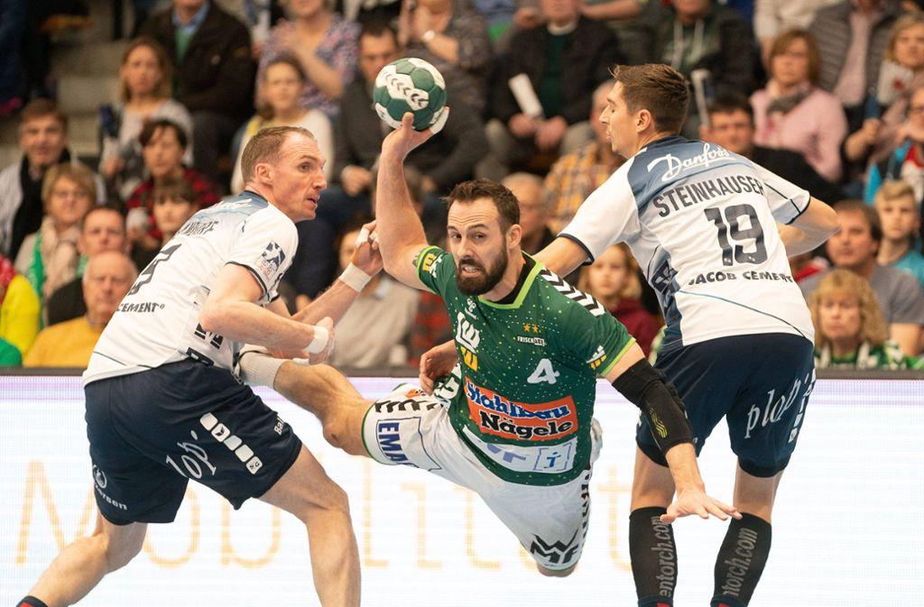 Überragende Leistung und acht Tore: Göppingens Kapitän Tim Kneule. Foto: imago/Eibner