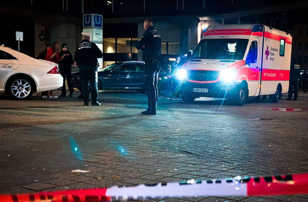 Am Stuttgarter Josef-Hirn-Platz ist ein Mann schwer verletzt worden. Foto: 7aktuell.de/ MG/7aktuell.de   MG
