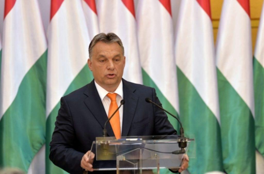 Ungarns Ministerpräsident Viktor Orban kündigte diese Woche an, einen vier Meter hohen Zaun an der Grenze zu Serbien bauen zu lassen. Foto: MTI