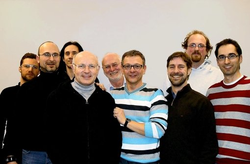Schnappschuss mit Selbstauslöser: Männer vom Arbeitskreis Schwule Lehrer. Foto: Nuri Kiefer