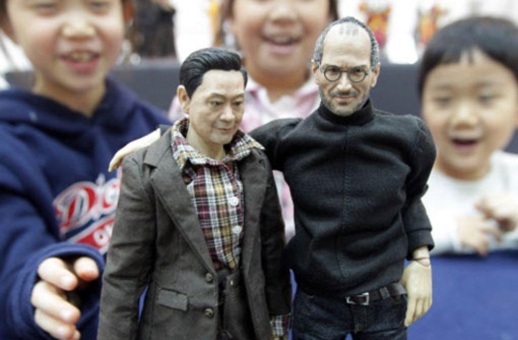 Die lebensechte Puppe des Apple-Gründers Steve Jobs kommt doch nicht in den Handel. Foto: dpa