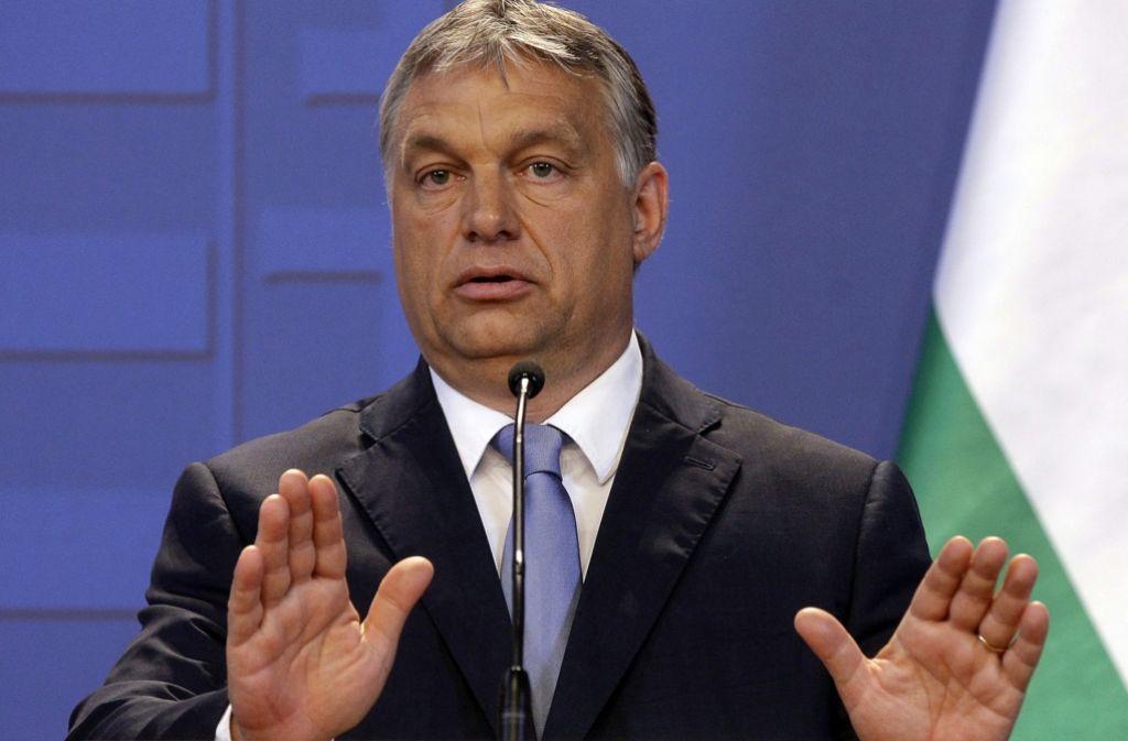 Ungarns Premier Viktor Orban (Bild) lässt sich vom Luxemburger Amtskollegen Jean Asselborn offenkundig nicht beeinflussen. Foto: AFP