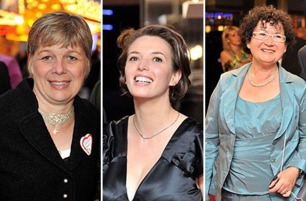Susanne Verweyen-Mappus, Tülay Schmid und Gerlinde Kretschmann (von links): Wer wird First Lady? Foto: dpa, Kombo: sir