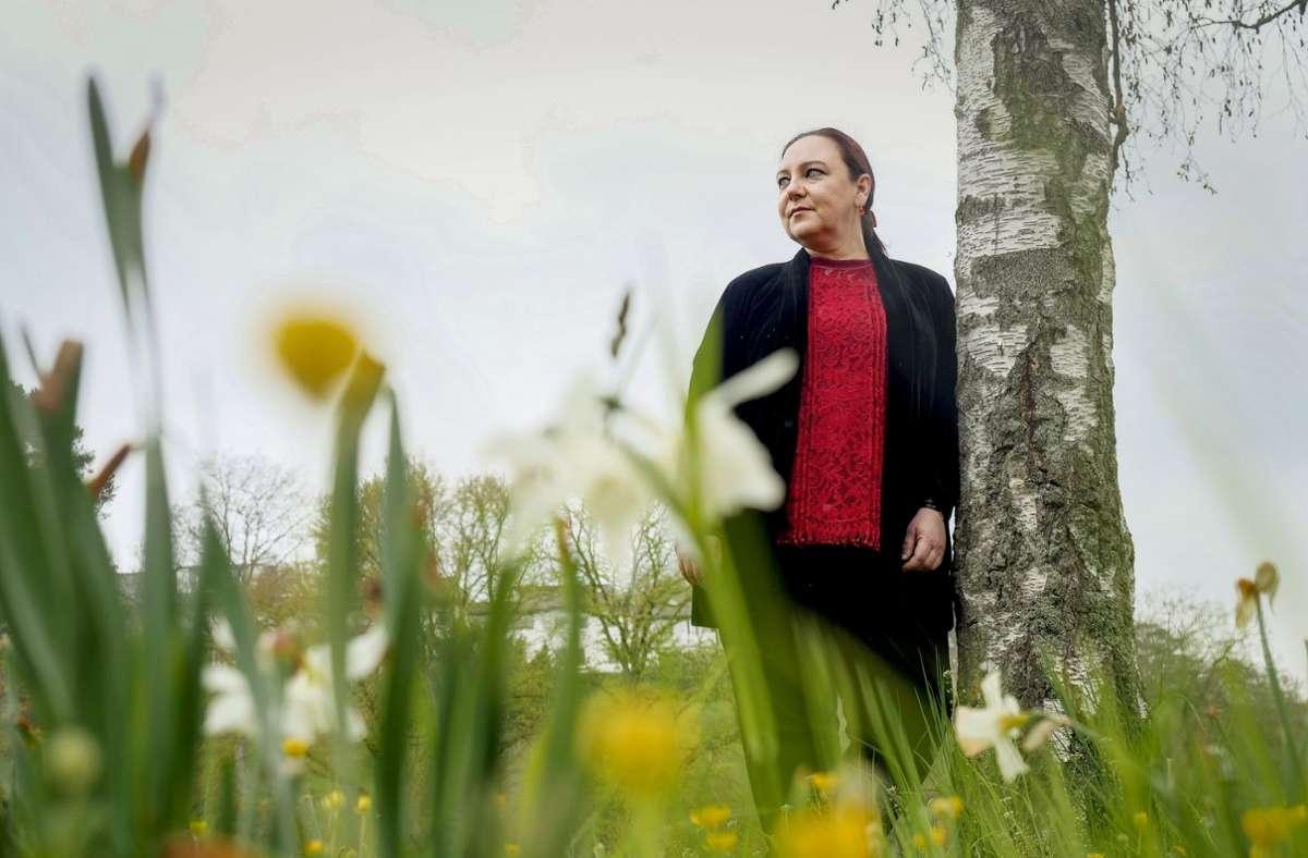Maribel Añibarro: Die Autorin hat zuletzt über Assassinen geschrieben, die auf dem  Killesberg ihr Unwesen treiben. Foto: Simon Granville