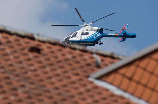Polizei sucht mit Hubschrauber nach vermisstem Mann