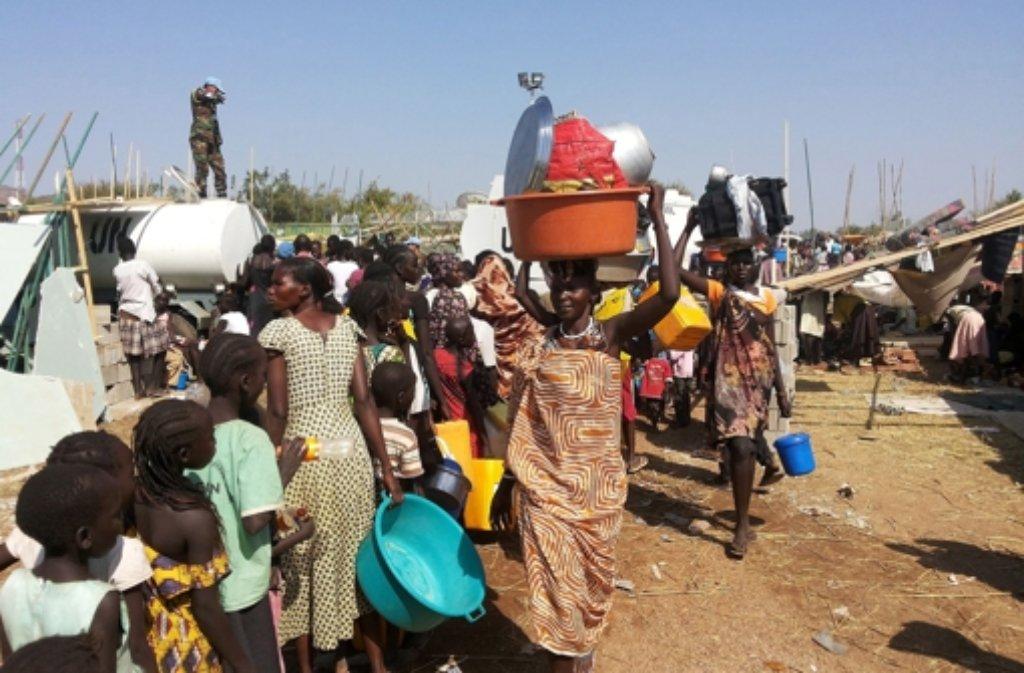 Im Südsudan sind Tausende auf der Flucht. Foto: UNMISS/dpa