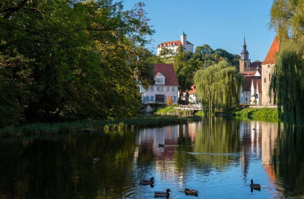 Das Enzufer in Vaihingen ist derzeit gefährlich. Die Stadt hat eingegriffen. Foto: Tourismus BW/Stuttgart Marketing