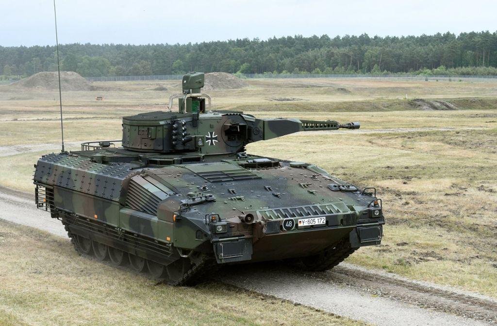 Schützenpanzer Puma: soll er in Krisenregionen exportiert werden? Foto: dpa