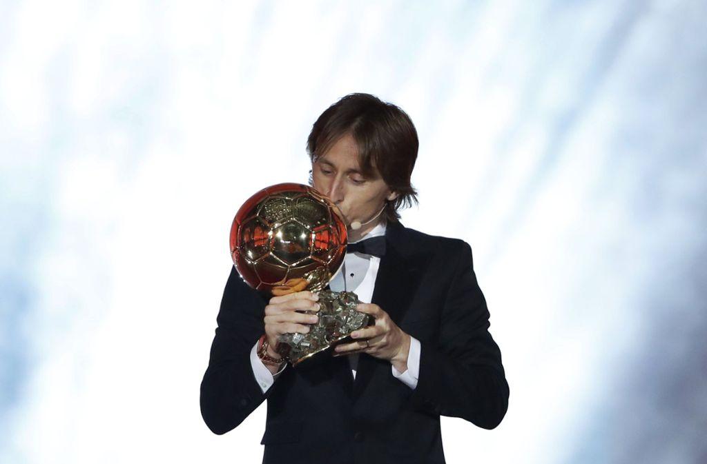 Luka Modric freute sich über die erneute Auszeichnung. Foto: AP