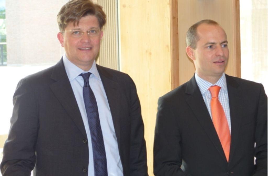 CDU-Parteifreunde unter sich: Eckart von Klaeden (links) mit dem Noch-Abgeordneten Matthias Pröfrock Foto: Michael Käfer