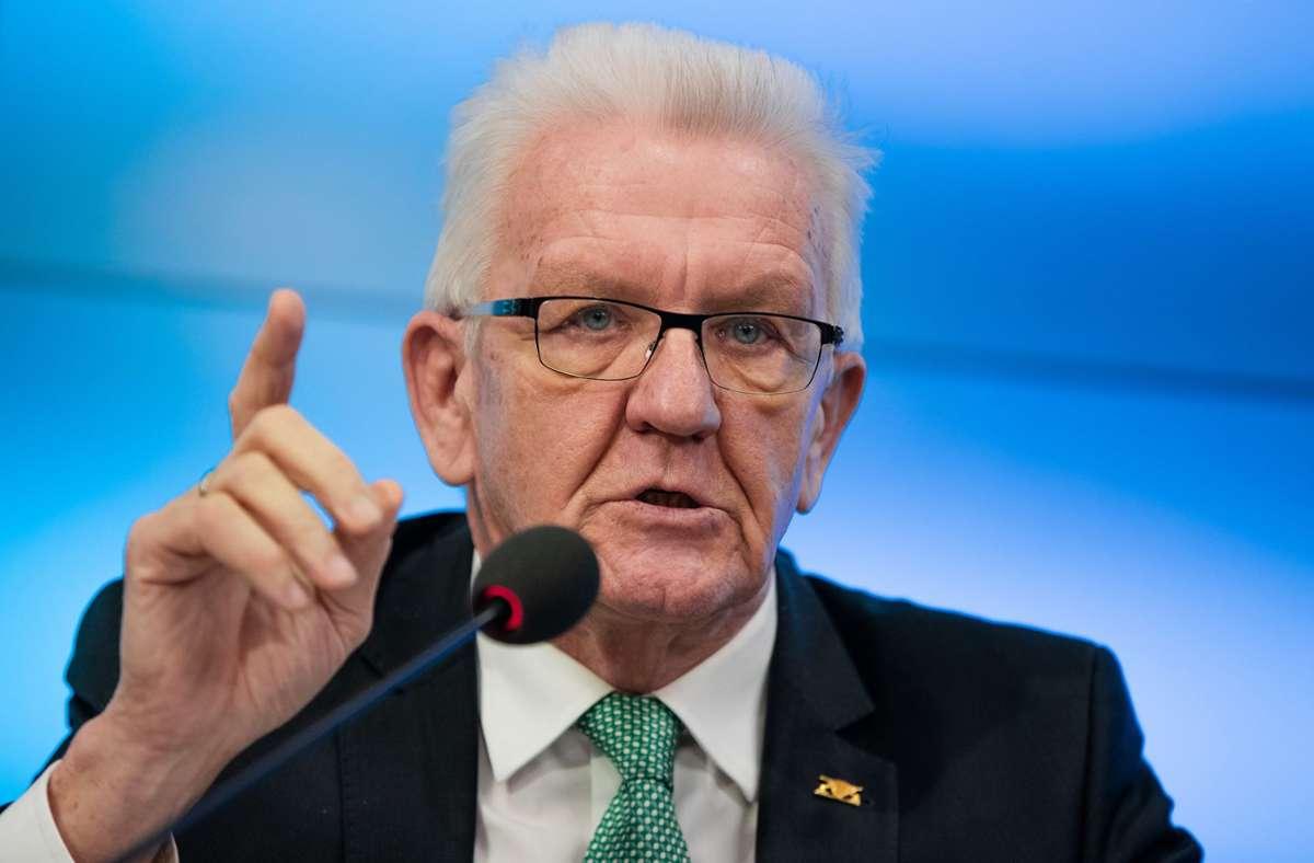 Ministerpräsident Winfried Kretschmann Foto: dpa/Christoph Schmidt