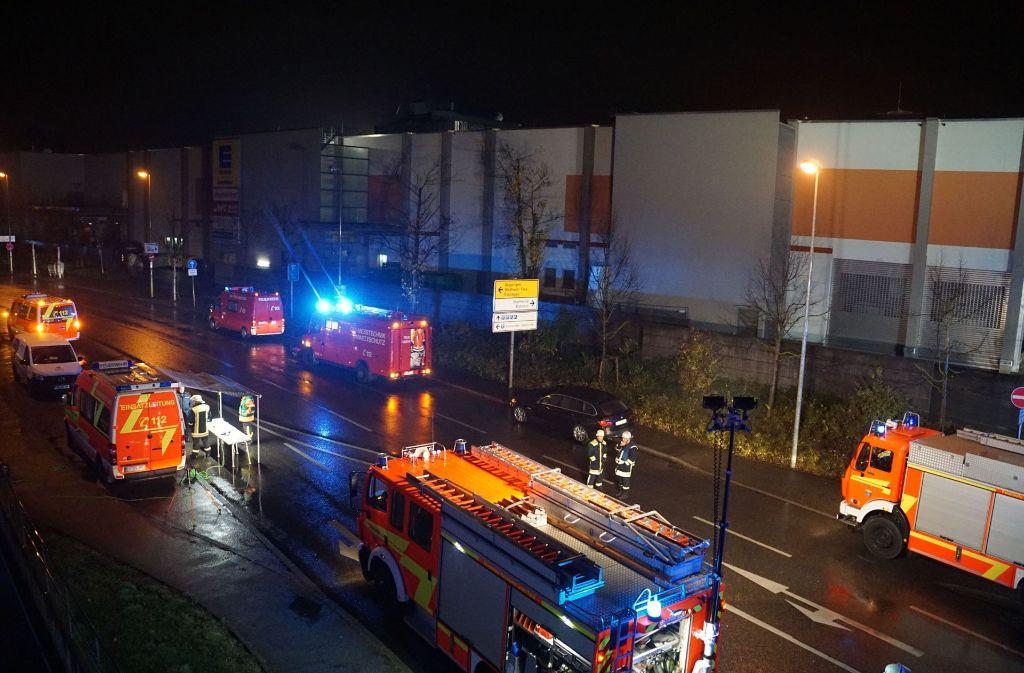 Die Feuerwehr nahm Messungen im Nanz-Center vor. Foto: SDMG