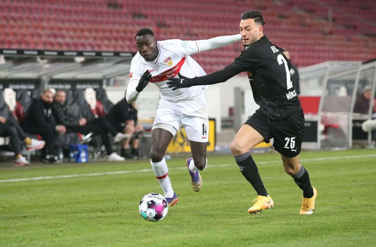 Silas Wamangituka traf für den VfB in der Nachspielzeit. Foto: Pressefoto Baumann/Alexander Keppler