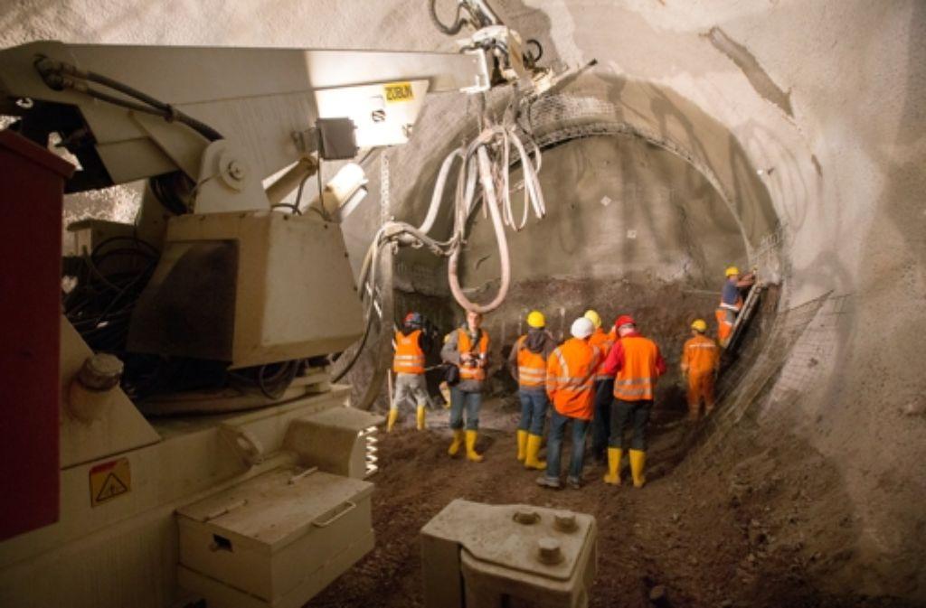 Unter der Heilbronner Straße wird auch ein Stadtbahntunnel gebaut. Weitere Bilder von unter Tage zeigen wir in der folgenden kleinen Bilderstrecke. Foto: