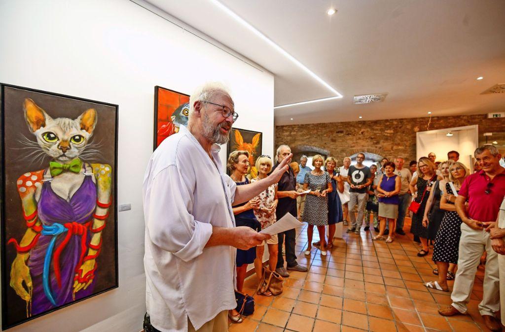 Bei der Eröffnung der neuen Galerie in der Schmalzstraße durch Andreas Kerstan ist das Interesse groß. Foto: factum/Granville
